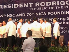 PCI Chairman receiving the highest civilian nation security award from President Duterte